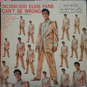 Elvis Presley ‎– 50,000,000 Elvis Fans Can't Be Wrong (Elvis' Gold Records, Vol. 2) - VG Lp Record 1959 USA Mono Original Vinyl - Rock & Roll