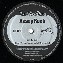"Aesop Rock / Karniege – All In All / Make News / Bazooka, Chameleon, Robot - Mint- 12"" USA 2004 Definitive Jux - Hip Hop"