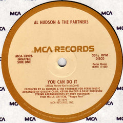 "Al Hudson & The Partners – You Can Do It / I Don't Want You To Leave Me - VG+ 12"" USA 1979 - Funk/Disco"