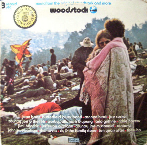 Various ‎– Woodstock - Music From The Original Soundtrack And More - VG+ 3 Lp Record 1970 Cotillion USA Original Vinyl - Rock / Soul / Folk / Psychedelic / Funk / Blues Rock / Country Rock