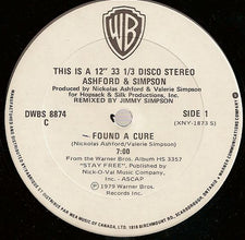 "Ashford & Simpson – Found A Cure / You Always Could - VG+ 12"" USA - Disco Funk"