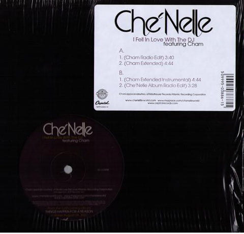 "Che'Nelle feat. Cham ‎– I Fell In Love With The DJ - New Vinyl Record 12"" Single 2007 USA - Dancehall/Reggae"