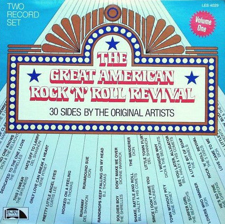 Various – The Great American Rock 'N' Roll Revival (30 Sides By The Original Artists) - VG+ 2 LP USA 1980