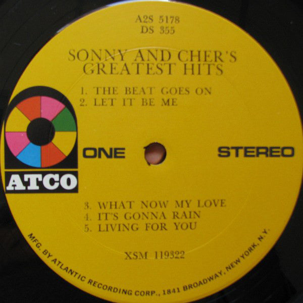 Sonny & Cher ‎– Sonny & Cher's Greatest Hits - VG+ 2 Lp Record 1967 USA Original Vinyl - Pop Rock