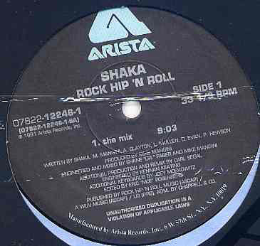 "Shaka – Rock Hip'n Roll - New Vinyl 12"" Single USA 1991 - Hip Hop"