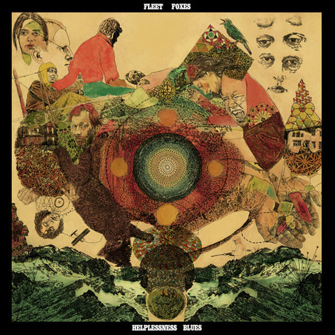 Fleet Foxes - Helplessness Blues - New 2 Lp Record 2011 USA Sub Pop Vinyl & Poster & Download - Indie Rock / Folk Rock