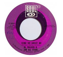 "Junior Walker & The All Stars ‎– Come See About Me / Sweet Soul VG 7"" Record Single 45 Rpm 1967 Vinyl USA - Soul"