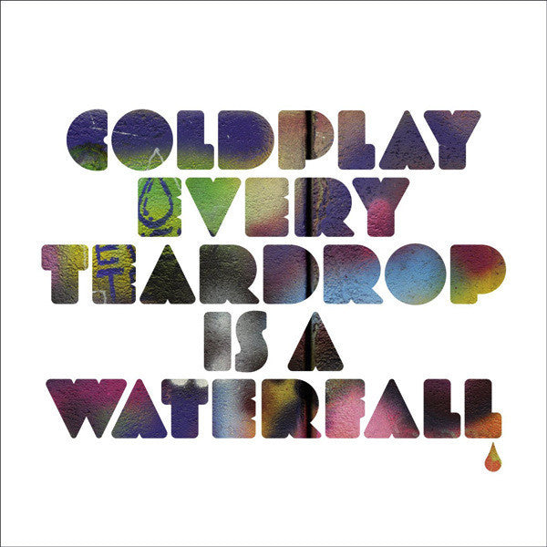 "Coldplay - Every Teardrop Is A Waterfall - New Vinyl Record 2011 EMI E.U. 7"" Single w/ Di-Cut Cover - Pop / Rock"