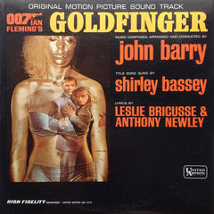007 James Bond / John Barry – Goldfinger Soundtrack - VG 1964 Stereo USA (Original Press) - Soundtrack - Shuga Records Chicago