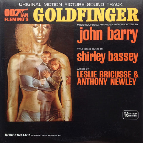 Soundtrack - Ian Fleming's Goldfinger - New Vinyl Record 2013 Capitol Records Reissue of 1964 album - 180 gram Audiophile Quality (Composed by John Barry)