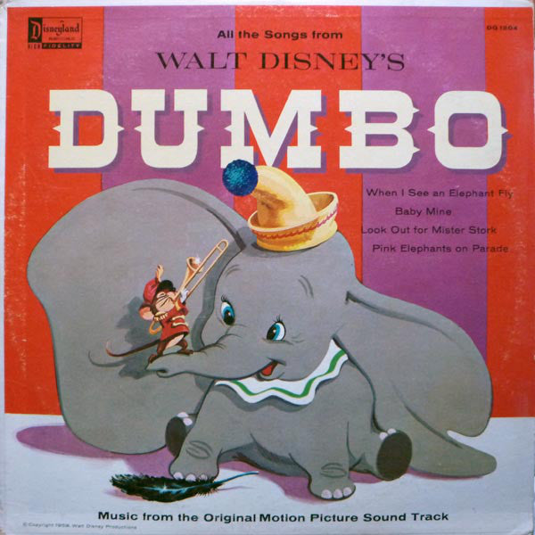 Walt Disney's Dumbo - Original Motion Picture Soundtrack - VG+ 1959 USA (Original Press) - Soundtrack
