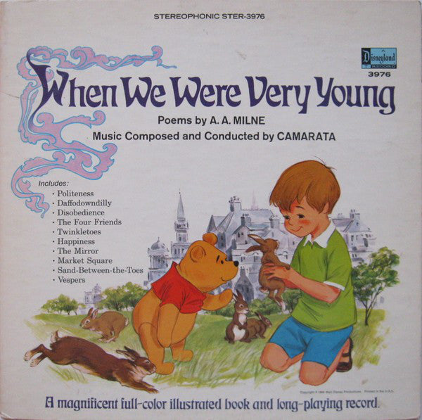 A.A. Milne / Camarata – When We Were Very Young - VG- 1968 USA - Children's