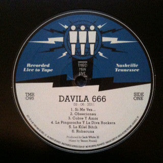 Davila 666 - Live at Third Man (3/6/2011) - New Lp Record  2011 Third Man Vinyl - Garage Rock