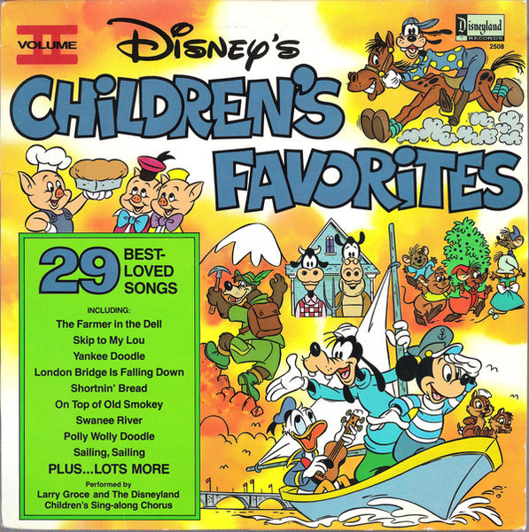 Larry Groce And The Disneyland Children's Sing-Along Chorus ‎– Disney's Children's Favorites Volume II - VG+ 1979 Stereo USA - Children's