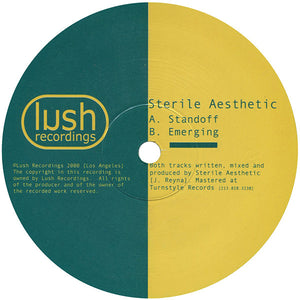 "Sterile Aesthetic ‎– Standoff / Emerging Mint 10"" Single Record 2000 USA Vinyl - Drum n Bass"
