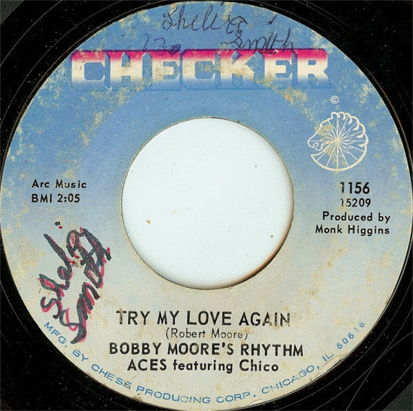"Bobby Moore's Rhythm Aces ‎– Try My Love Again / Go Ahead And Burn VG- - 7"" Single 45 RPM 1966 Checker USA - Funk / Soul"