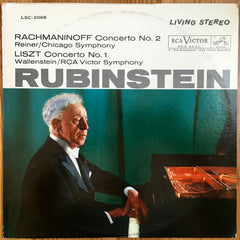 Artur Rubinstein ‎– Concerto No. 2 (Rachmaninoff) · Concerto No. 1 (Liszt) MINT- 1962 RCA Red Seal Stereo LP USA - Classical / Romantic