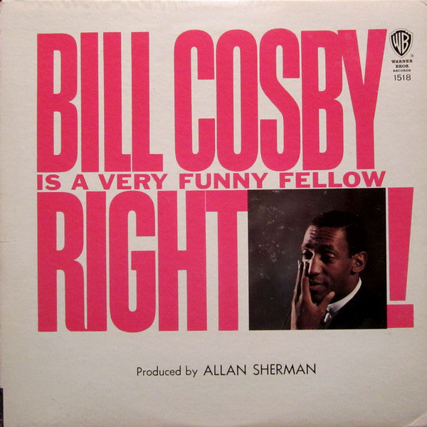 Bill Cosby - Is A Very Funny Fellow Right! - VG+ Lp Record 1963 USA Original - Comedy