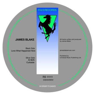 "James Blake - Love What Happened Here - New Vinyl Record 2011 R&S 12"" Single - Post-Dubstep / Electronic / Left-Field"