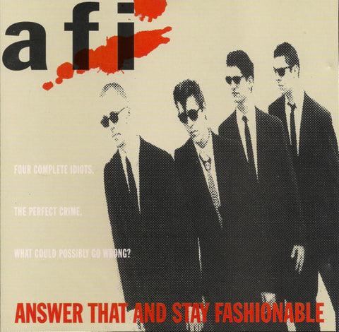 AFI - Answer That and Stay Fashionable (1997)- New Lp Record 2000's Nitro Records Reissue Unknown Color - Punk / Hardcore