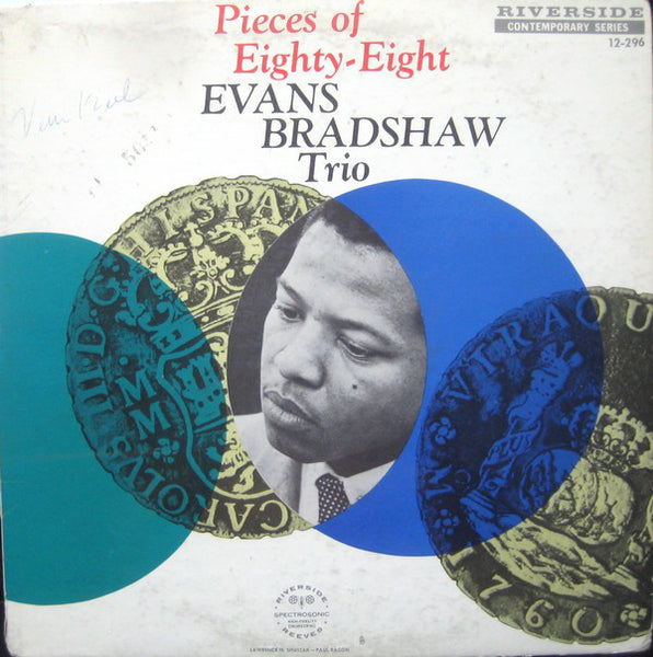 Evans Bradshaw Trio - Pieces Of Eighty-Eight VG+ - 1959 Riverside Mono Blue / Silver Lbl USA - Jazz - B5-027