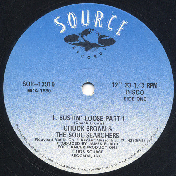 "Chuck Brown & The Soul Searchers – Bustin' Loose - Mint- 12"" Single USA (Promo) 1978 - Funk"