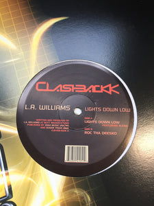"L.A. Williams ‎– Lights Down Low - Mint- 12"" Single 2000 USA Clashbackk Vinyl- Chicago House"