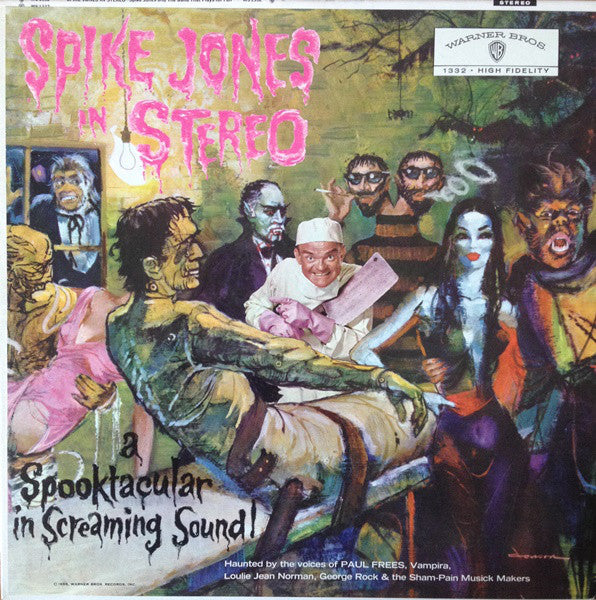 Spike Jones ‎– Spike Jones In Stereo - VG+ Lp Record 1959 Warner USA Vinyl - Pop / Novelty / Halloween