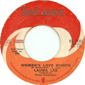 """Laura Lee – Women's Love Rights / Her Picture Matches Mine VG+ - 7"""" Single 45 RPM 1971 Hot Wax USA - Soul"""