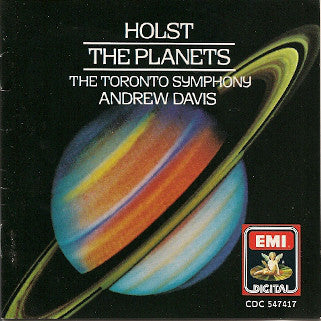 Holst, The Toronto Symphony, Andrew Davis ‎– The Planets - New Vinyl 1986 (Original Press) German Import Stereo - Classical