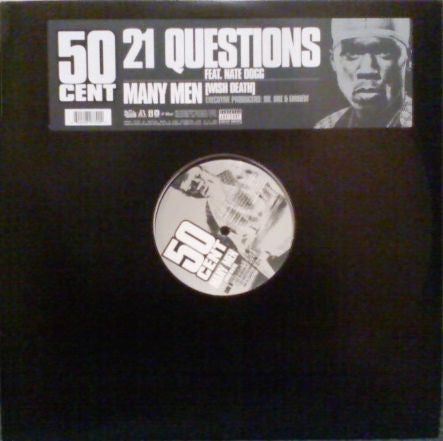 "50 Cent - 21 Questions / Many Men 12"" Single 2003 Shady/Aftermath PROMO - Hip Hop"