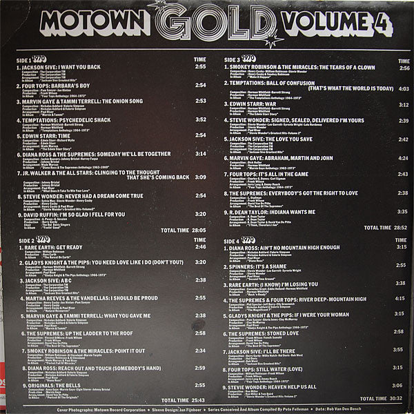 Various – The Motown Story : Volume Four/4 - VG+ 1974 Stereo USA - Soul/Funk