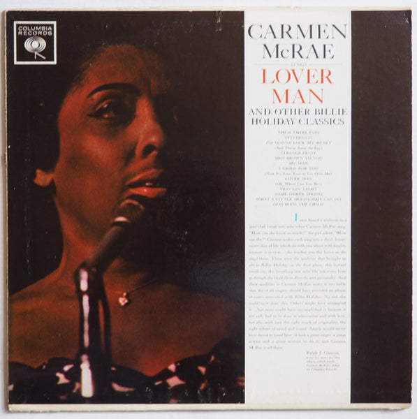 Carmen McRae - Sings Billie Holiday Classics - Mint- Stereo 1981 Columbia Jazz Odyssey USA - B12-081