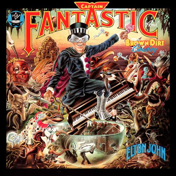 Elton John ‎– Captain Fantastic And The Brown Dirt Cowboy - VG Lp Record Stereo 1975 MCA With 2 Books - Rock / Pop
