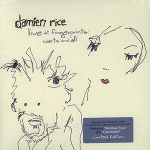 Damien Rice - Live At Fingerprints: Warts And All (2006) - New Vinyl 2012 (limited Edition 1st Press) USA - Rock