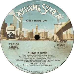 "Cissy Houston – Think It Over - Mint- 12"" Single USA 1978 - Disco"