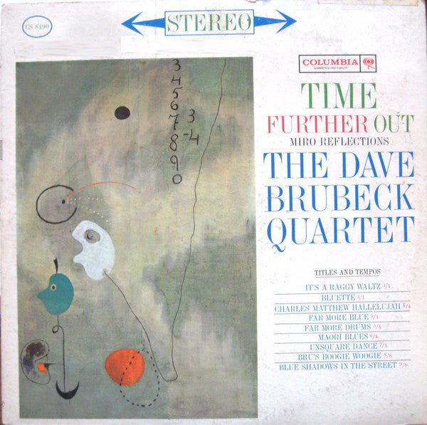 The Dave Brubeck Quartet ‎– Time Further Out (Miro Reflections) - VG+ 1961 Stereo USA (Original Press 6 Eye Label) - Jazz