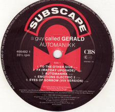 "A Guy Called Gerald – Automanikk - Mint- 12"" USA Promo 1990 - Acid House - Shuga Records Chicago"