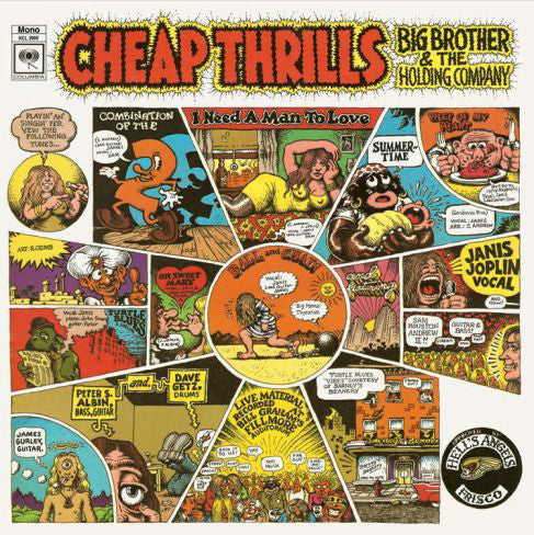 Big Brother & The Holding Company Featuring Janis Joplin ‎– Cheap Thrills (1968) - New Vinyl 2012 CBS MONO 180 gram (Limited Edition & Numbered to 3000 made) - Rock/Psychedelic Rock