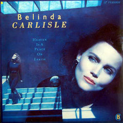"Belinda Carlisle ‎– Heaven On Earth - VG+ 12"" Single 1987 USA Original Press - Synth Pop"