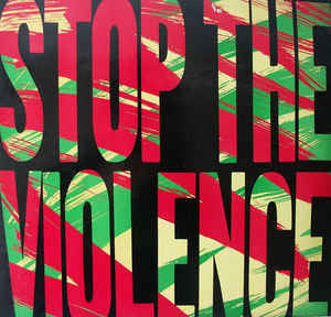 "Boogie Down Productions – Stop The Violence - VG+ 12"" Single USA 1988 - Hip Hop"