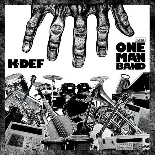 K-Def - One Man Band - New Vinyl Record 2013 Redefinition Records Limited Edition Silver Vinyl - Instrumental / Hip Hop