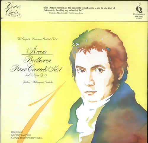 Ludwig van Beethoven, Claudio Arrau, Alceo Galliera, Philharmonia Orchestra ‎– Beethoven Piano Concerto No. 1 In C Major, Op 15 - New Vinyl 1978 (Original Press) USA - Classical