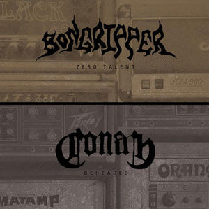 Bongripper / Conan Split - 2015 Pressing on 500 on Translucent Beer (A side) & Bronze (B side) w/ Both Trans and Opaque Red Splatter vinyl (500 Pressed)