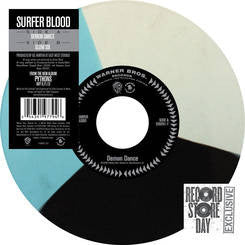 "Surfer Blood - Demon Dance / Slow Six - New Vinyl Record 2013 Record Store Day Limited Edition White / Blue Vinyl 7"" - Indie / Alt-Rock"