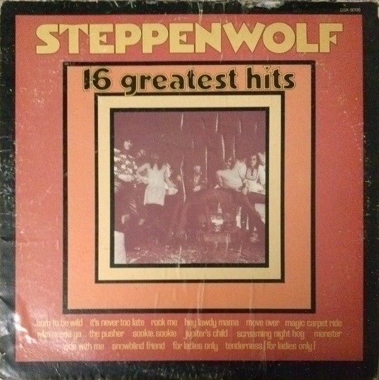 Steppenwolf ‎– 16 Greatest Hits - VG Lp Record 1973 Stereo USA - Classic Rock