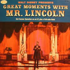 Walt Disney Presents - Great Moments With Mr. Lincoln - VG+ 1964 Mono (Original Press) USA - Spoken Word/ Education