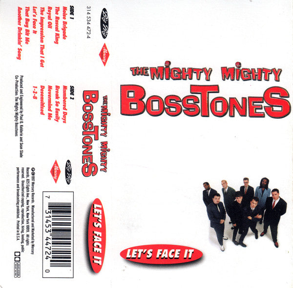 The Mighty Mighty Bosstones ‎– Let's Face It - Mint- Cassette Tape 1997 Mercury USA Original - Ska / Punk