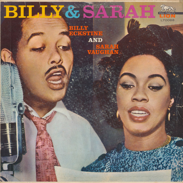 Billy Eckstine and Sarah Vaughan - Billy & Sarah VG - 1963 Lion Mono USA - Jazz