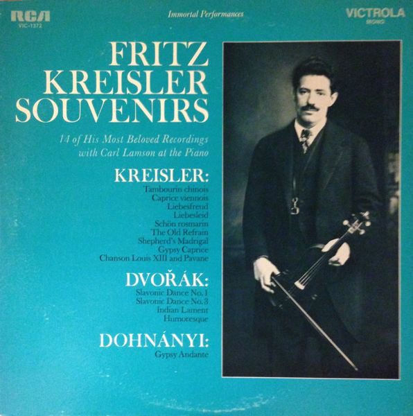 Fritz Kreisler ‎– Souvenirs - New Vinyl 1968 (Original Press) Stereo USA - Classical